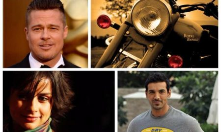 Celebrities with Royal Enfield