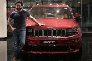 Saif Ali Khan With Jeep Grand Cherokee SRT