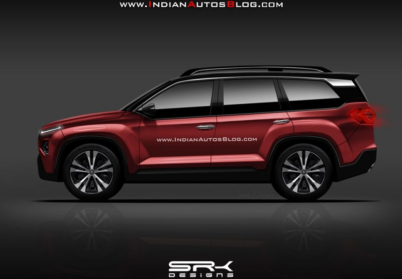 Tata Harrier 7 Seater SUV Rendered