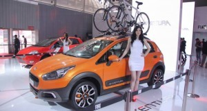 Fiat Punto Avventura Crossover displayed at Auto Expo 2014