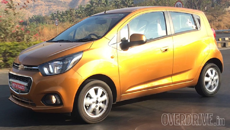 New Chevrolet Beat 2017 spied side profile