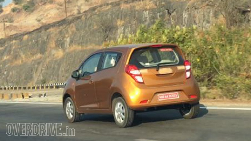 New Chevrolet Beat 2017 spied rear