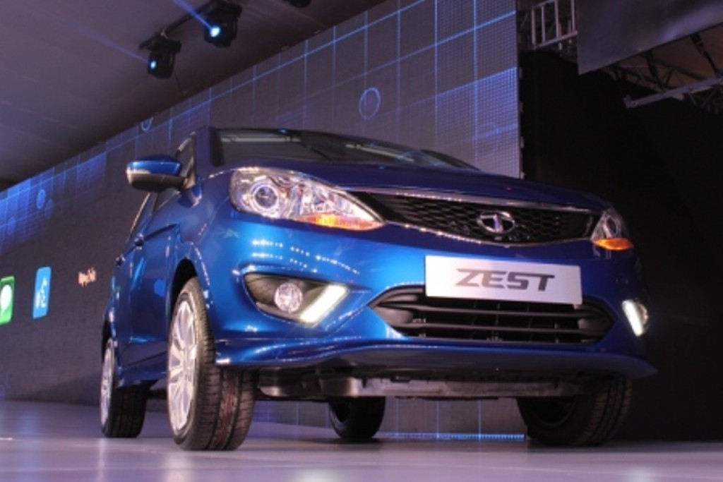 Tata Zest Sedan showcased at Auto Expo 2014