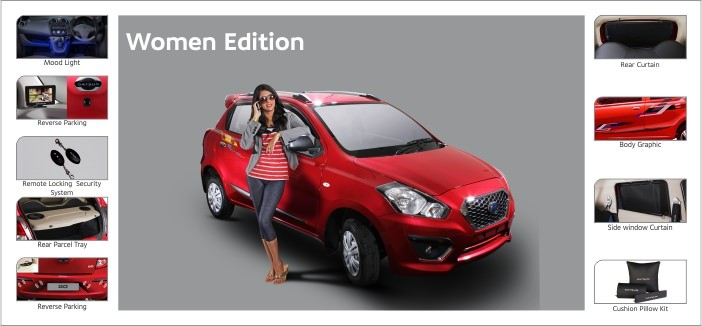 Datsun GO Women Edition and Accessory package- details inside