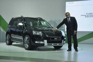 New Skoda Yeti facelift front
