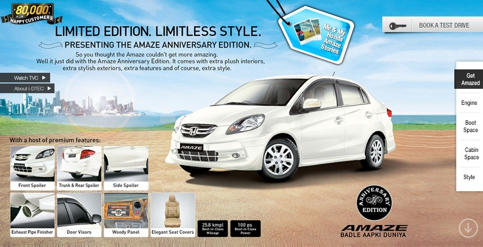 Launched Honda Amaze Anniversary Edition Price Features Specs