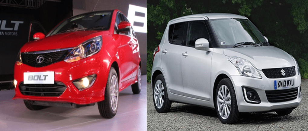 Tata Bolt Vs Maruti Swift