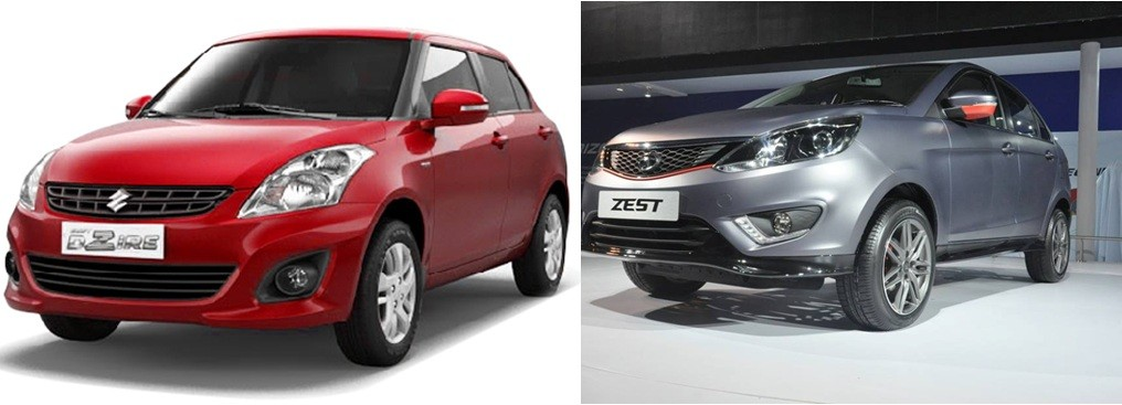 tata zest vs maruti swift dzire india car news. Black Bedroom Furniture Sets. Home Design Ideas
