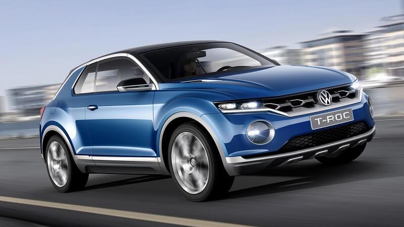 Volkswagen T ROC SUV side profile