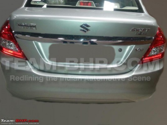 2014 Maruti Swift Dzire facelift rear