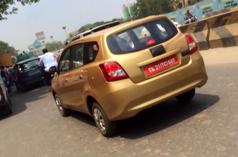 Datsun Go+ MPV Spied testing in India - India Car News