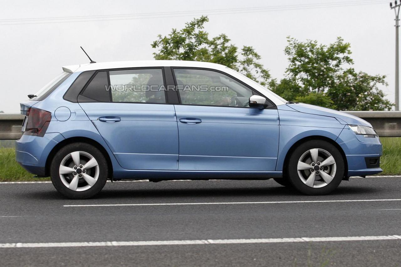 new 2015 skoda fabia spied again india car news. Black Bedroom Furniture Sets. Home Design Ideas