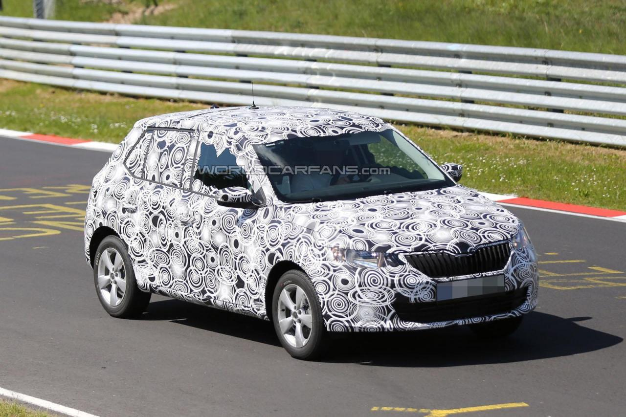 spied new 2015 skoda fabia first images india car news. Black Bedroom Furniture Sets. Home Design Ideas