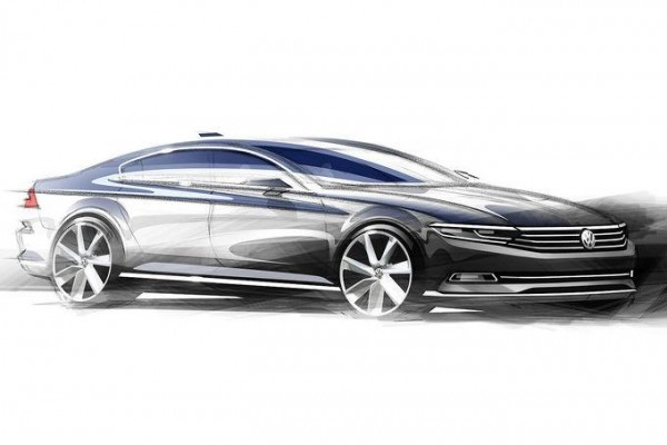 New Volkswagen passat side