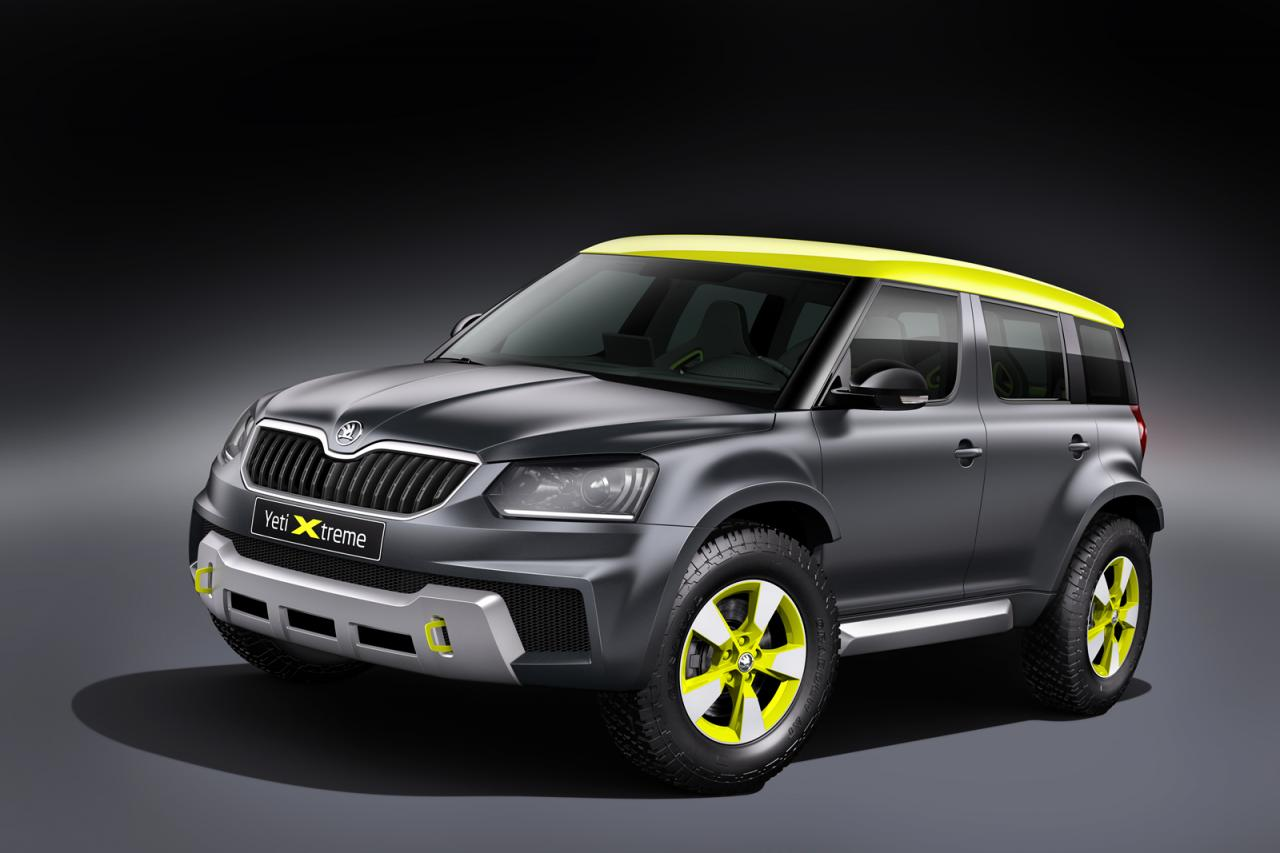skoda yeti xtreme unveiled pictures specs details. Black Bedroom Furniture Sets. Home Design Ideas