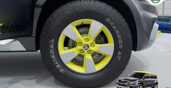 Skoda Yeti Xtreme tyres