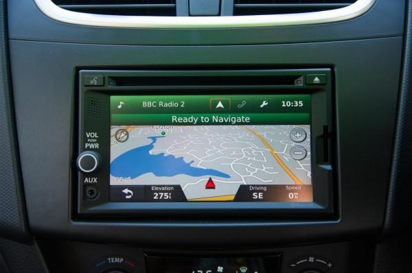 2014 Suzuki Swift navigation system