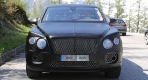 2016 Bentley SUV front fascia