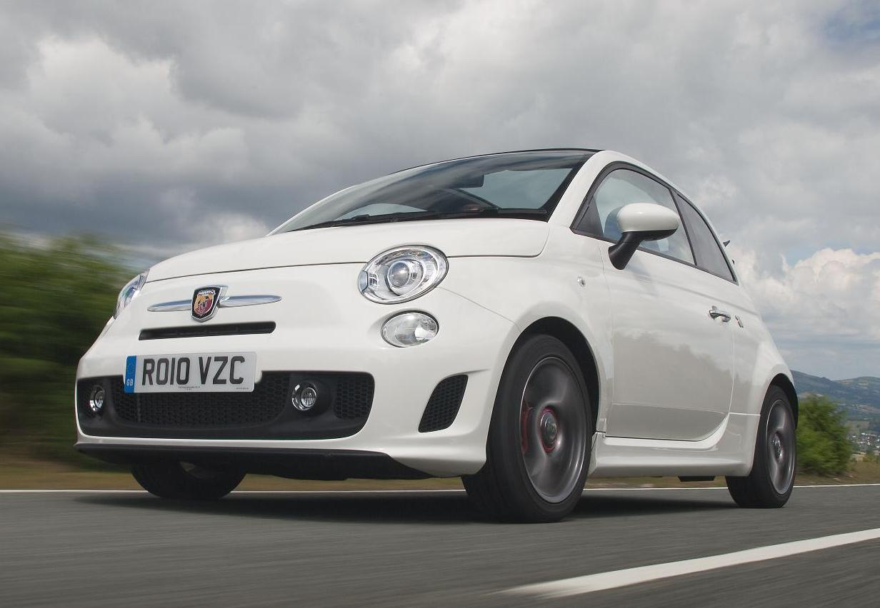 Abarth 500 headlamps and alloy wheels