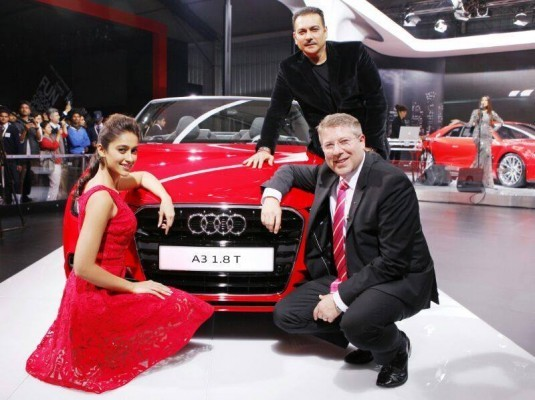 Audi A3 Cabriolet at Auto Expo