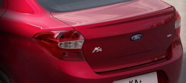 Ford Figo sedan rear profile