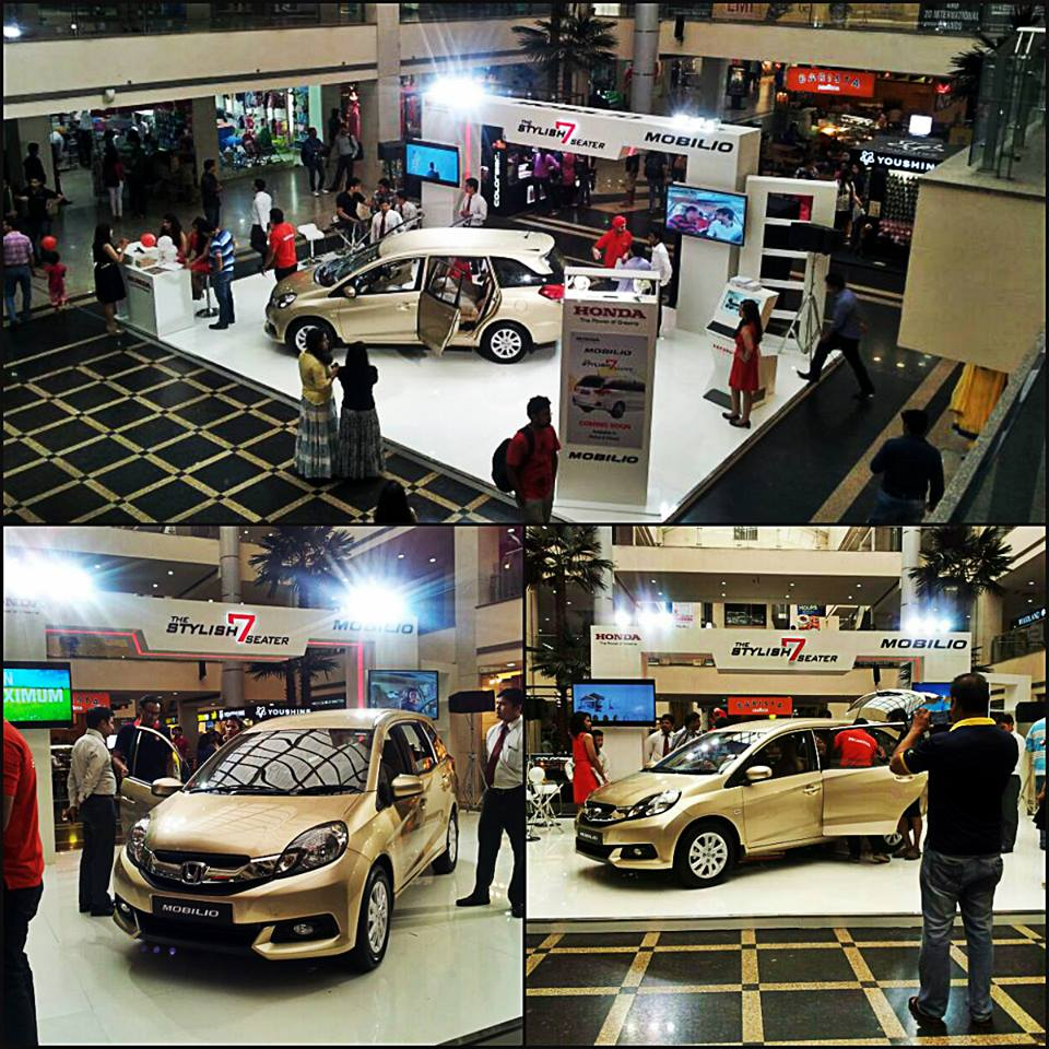 Honda Mobilio MPV Put On Public Display At Malls In India