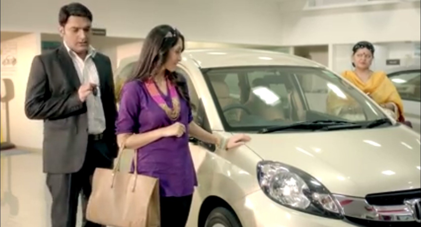 Kapil Sharma salesman for Honda Mobilio