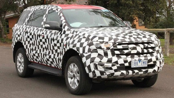 New Ford Endeavour side profile