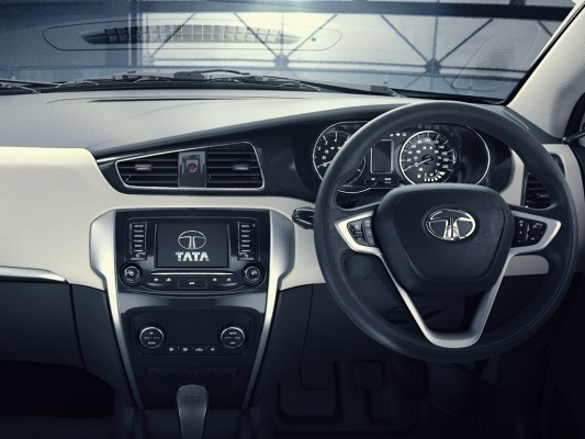 Tata Zest dashboard and steering