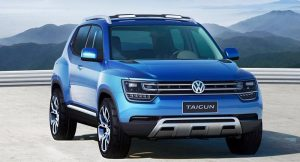 Volkswagen Taigun Compact SUV Front SideVolkswagen Taigun Compact SUV Front Side