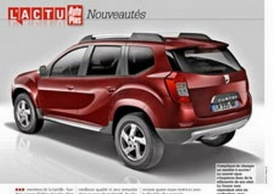 next generation Renault Duster Rendered image