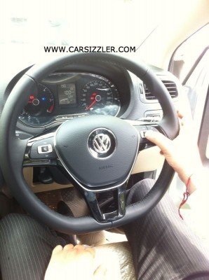 2014 Volkswagen Polo facelift new three spoke steering wheel