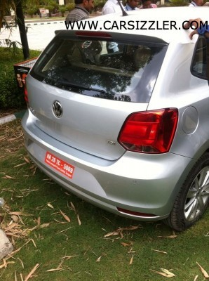 2014 Volkswagen Polo facelift rear with TDI badge