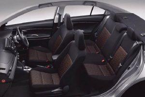 2017 Toyota Vios seats