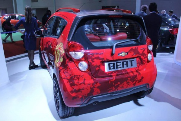 Chevrolet Beat Machester United Edition rear profile