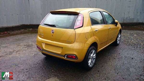 Fiat Punto facelift rear profile