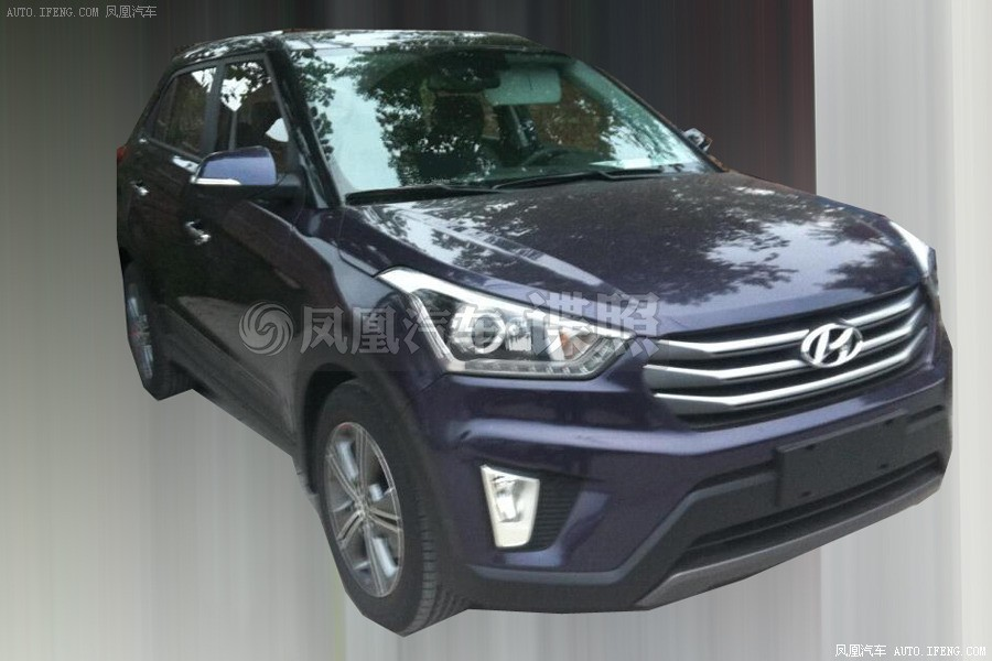 hyundai ix25 compact suv spied inside and outside. Black Bedroom Furniture Sets. Home Design Ideas