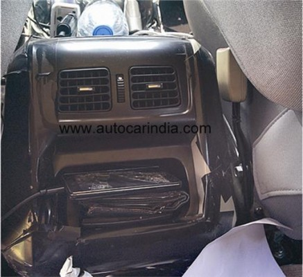 Mahindra Scorpio facelift rear AC vents