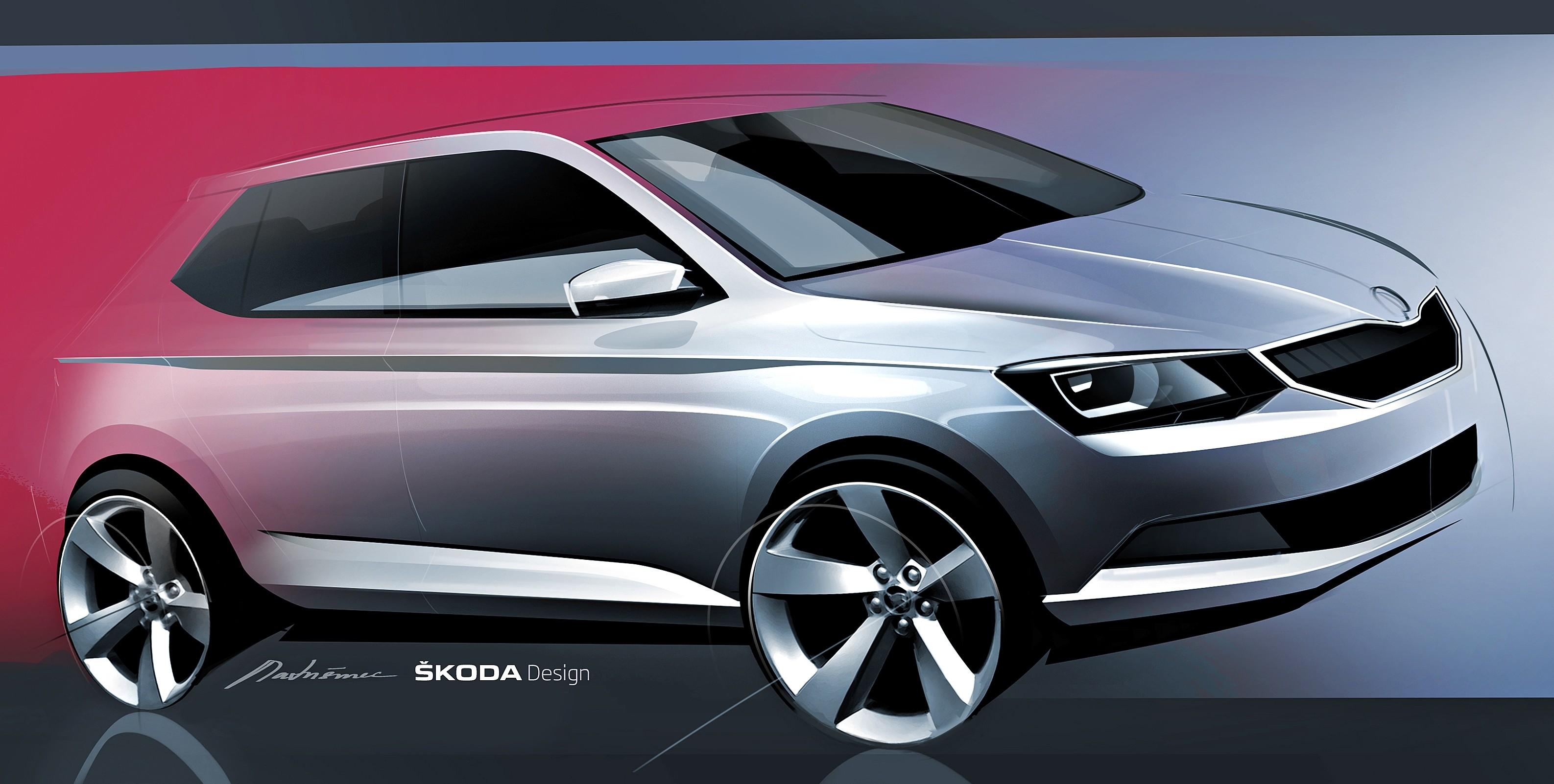New Skoda Fabia Sketch