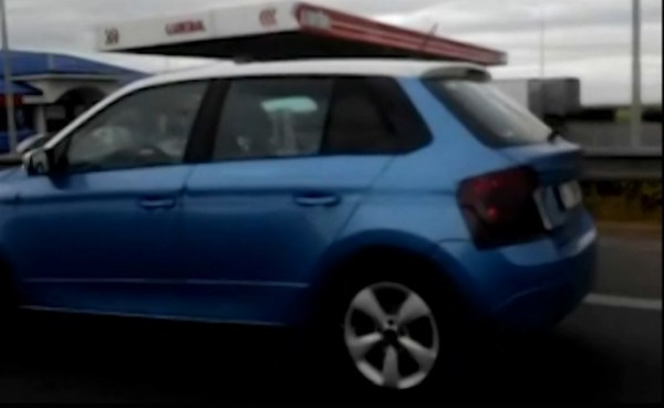 New Skoda Fabia side and rear profile