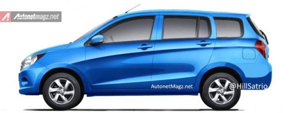 Suzuki Celerio MPV render side