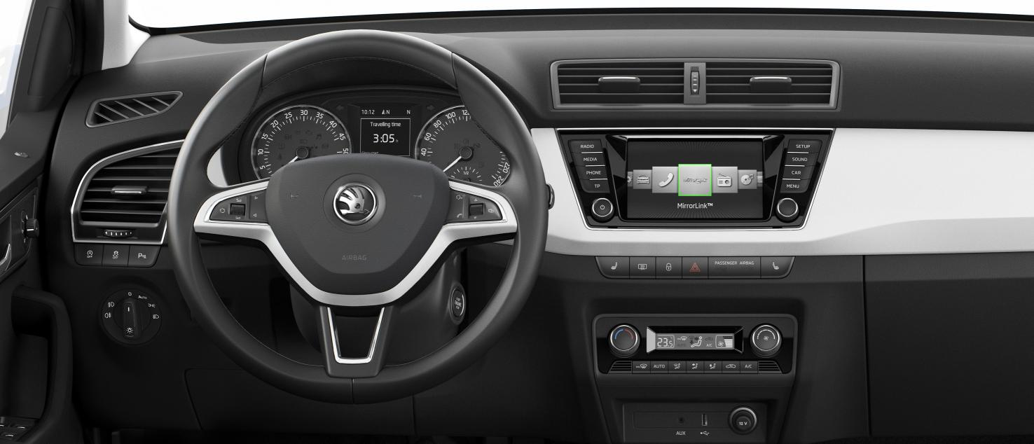 2015 skoda fabia interior and features revealed. Black Bedroom Furniture Sets. Home Design Ideas