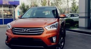Hyundai ix25 top trim in Orange shade