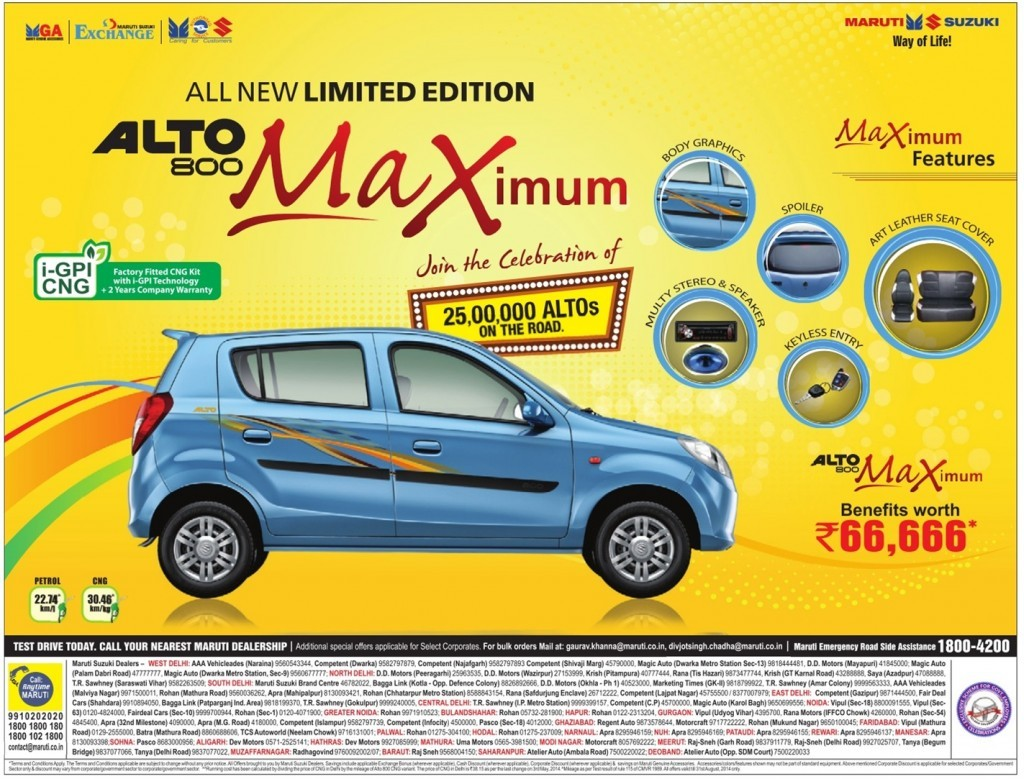 Maruti Alto 800 Limited Edition