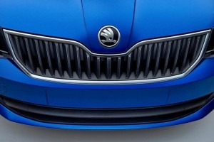 New 2015 Skoda Fabia front grille