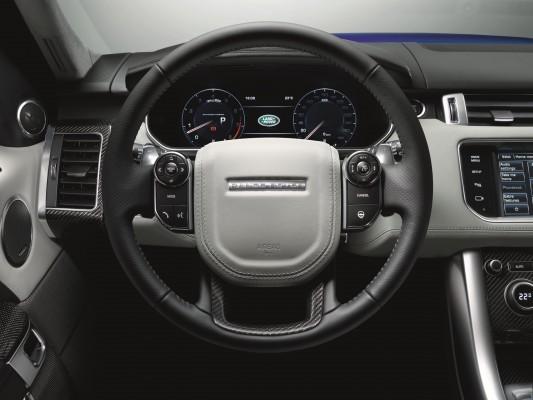 Range Rover Sport SVR steering wheel