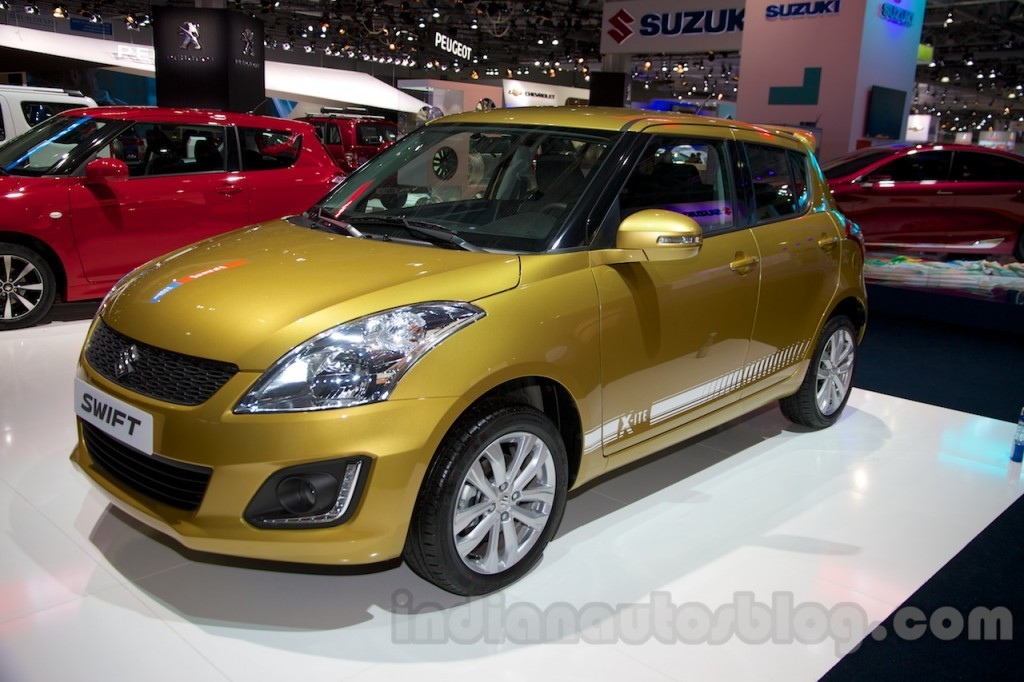 maruti swift facelift showcased at 2014 moscow motor show. Black Bedroom Furniture Sets. Home Design Ideas