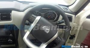 2015 Mahindra Scorpio facelift steering