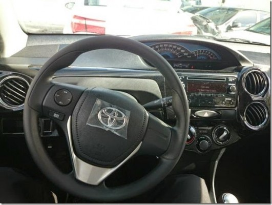 2015 Toyota Etios Facelift steering and dashboard