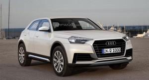 Audi Q1 SUV rendered